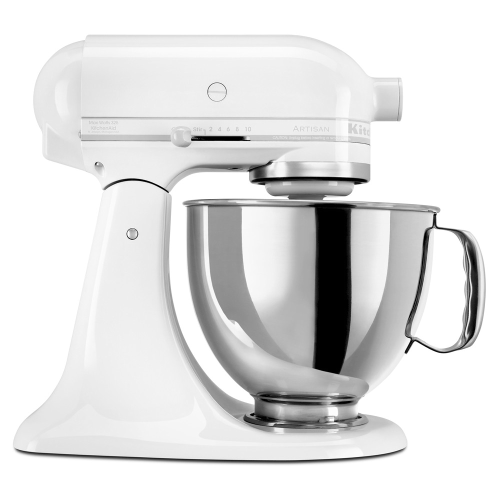 KitchenAid Artisan Series 5 Quart Tilt-Head Stand Mixer- Ksm150, White On White