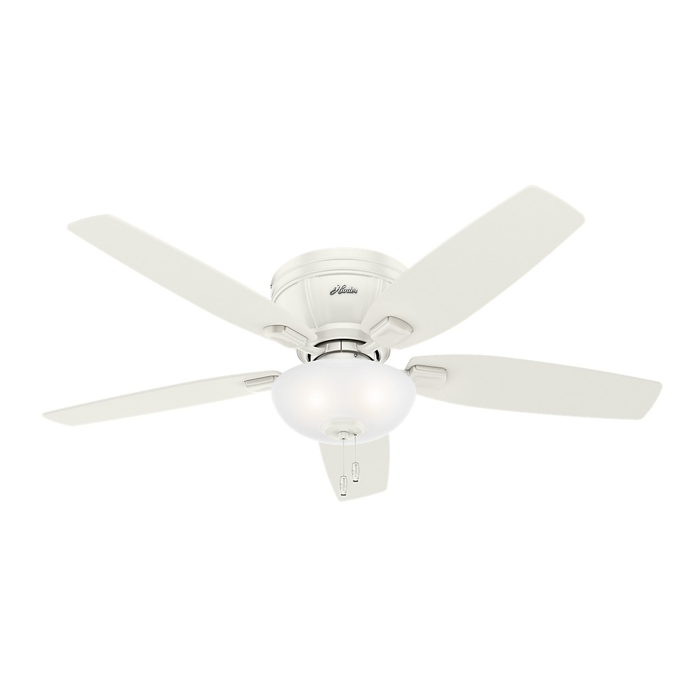 52 Kenbridge Low Profile Led Lighted Ceiling Fan Fresh White - Hunter Fan