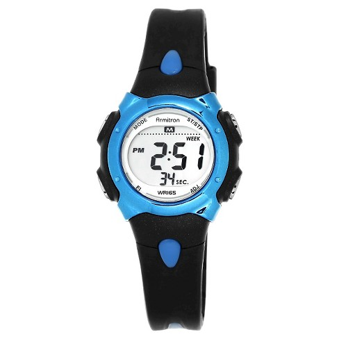 Armitron® Sport Digital Chronograph Resin Strap Watch - Black - image 1 of 1