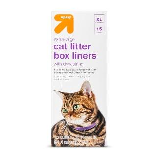 Cat Litter Box Drawstring Liners - XL - Up&Up™
