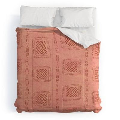 Schatzi Brown Mudcloth Comforter Set - Deny Designs