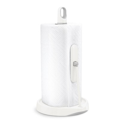 simplehuman Tension Arm Paper Towel Holder White Stainless Steel