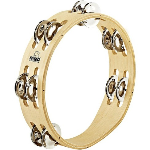 Nino Compact Wood Tambourine with Double Row Nickel Silver Plated Steel Jingles - image 1 of 1