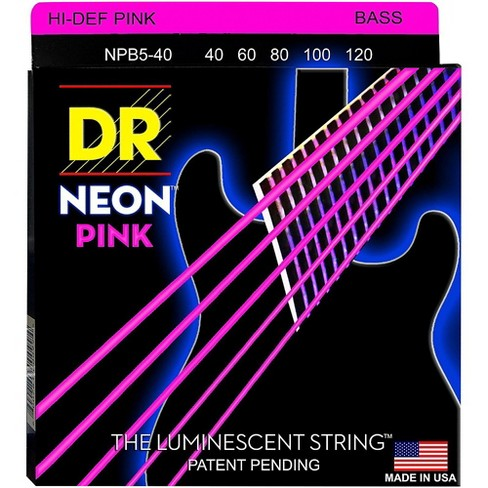 DR Strings NEON Hi-Def Pink Bass SuperStrings Light 5-String - image 1 of 2