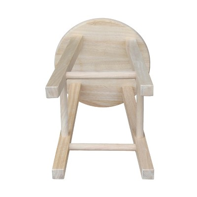 'Ready-to-Finish Round 18'' Barstool Hardwood/Natural - International Concepts, Brown'