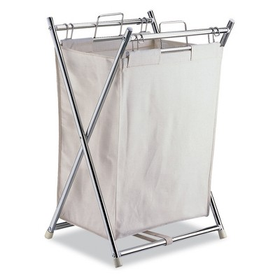 Neu Home Laundry Hampers With Pull Out Canvas Bag Off White