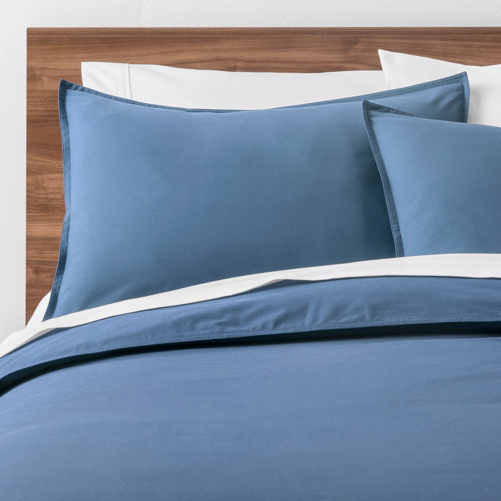Light Blue Easy Care Solid Duvet Cover Set (King) - Made By Design