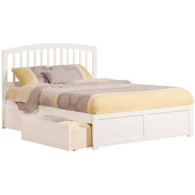 Atlantic Furniture Richmond Queen Flat Panel Foot Board w/ 2 Urban Bed Drawers White