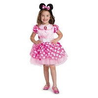Deals on Toddler Girls Minnie Mouse Halloween Costume Pink