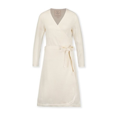 Hope & Henry Womens' Long Sleeve Wrap Sweater Dress