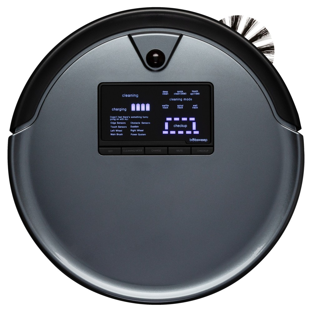 Image of bObsweep PetHair Plus Robotic Vacuum Cleaner and Mop - Gray