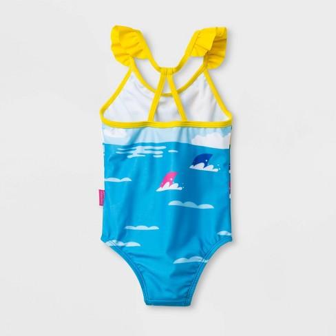 dc45d792b933a Toddler Girls' Pinkfong Baby Shark One Piece Swimsuit - Blue : Target