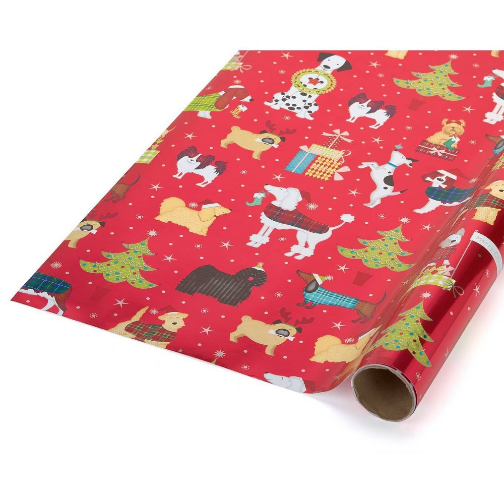 Image of Papyrus Santa's Best Friends Gift Wrap[, Red