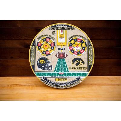 NCAA Iowa Hawkeyes Official Football Dartboard