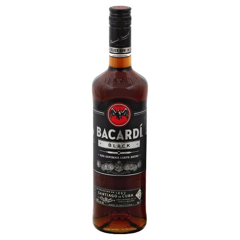 Bacardi® Black Rum - 750mL Bottle - image 1 of 1