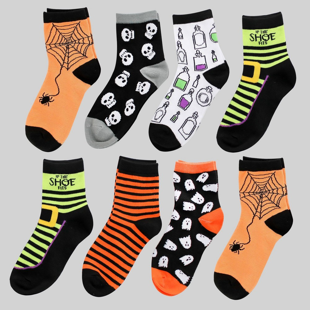 8pk Women's Halloween Socks - Bullseye's Playground was $8.0 now $4.0 (50.0% off)