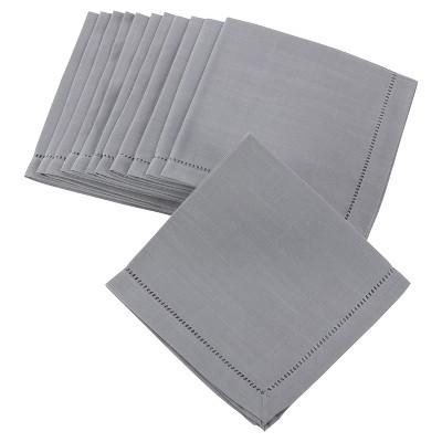 """(Set of 12)Gray Classic Design Napkin (20"""")- Saro Lifestyle"""