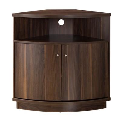 Iohomes Edisa Contemporary 3 - Shelf Corner Buffet Dark Walnut - HOMES: Inside + Out