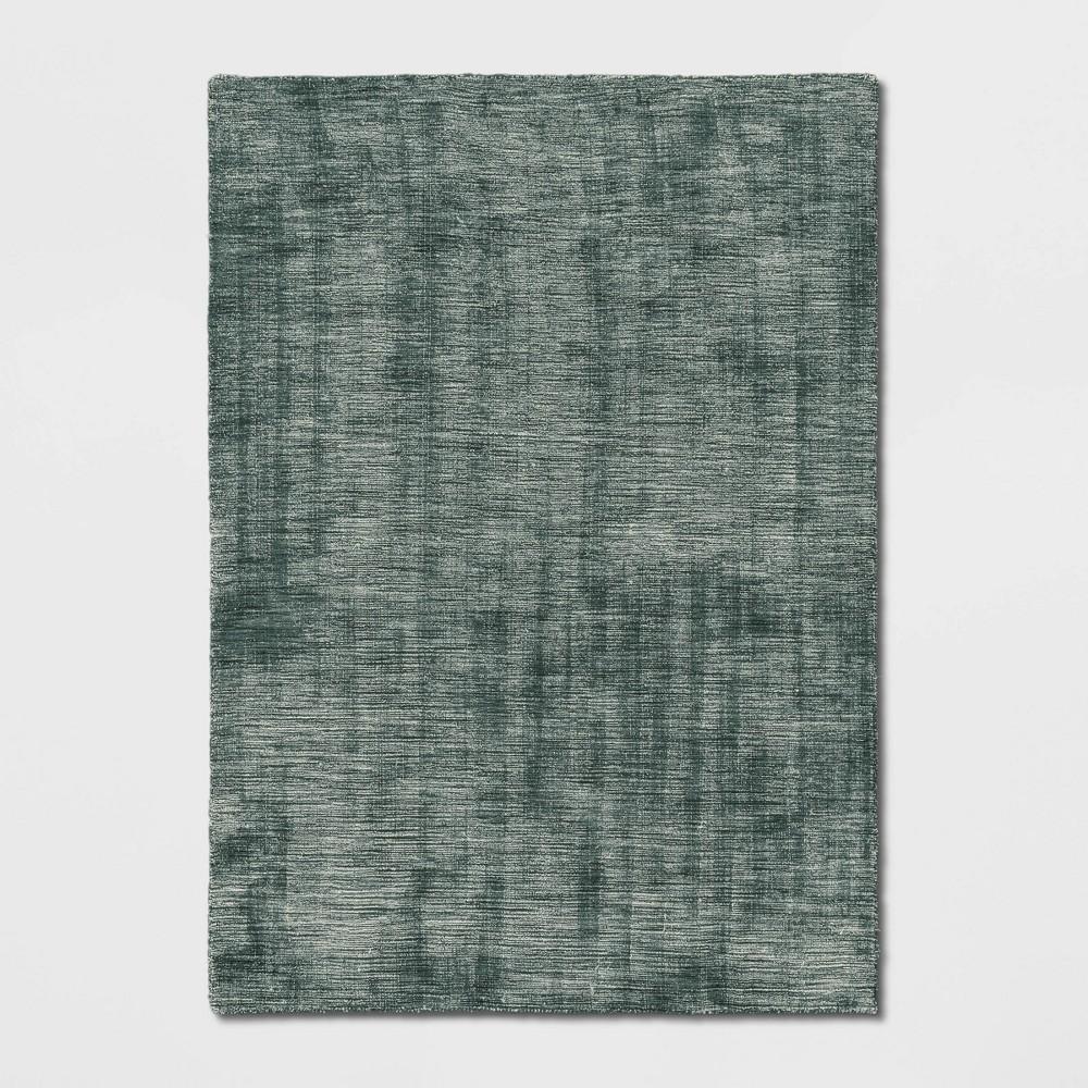 9'X12' Woven Tie Dye Design Area Rug Denim Blue - Project 62
