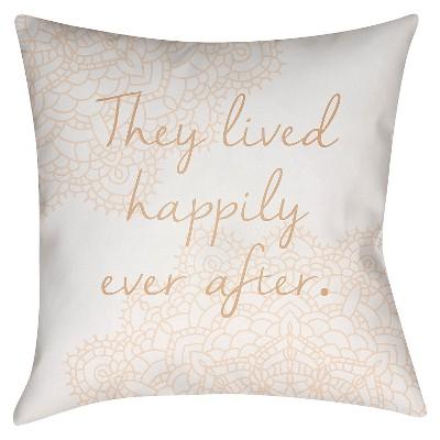 Orange Storytime Throw Pillow 20 x20  - Surya
