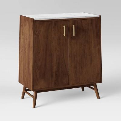 2 Door Wood/Marble Cabinet Brown - Project 62™