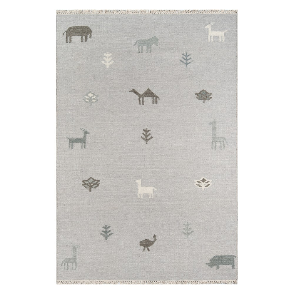 Image of 2'X3' Animal Print Woven Accent Rug Gray - Erin Gates By Momeni