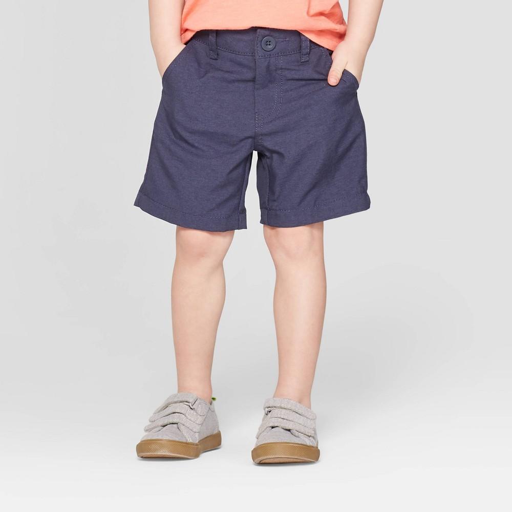 Toddler Boys' Quick Dry Chino Shorts - Cat & Jack Tonal Navy 4T, Blue