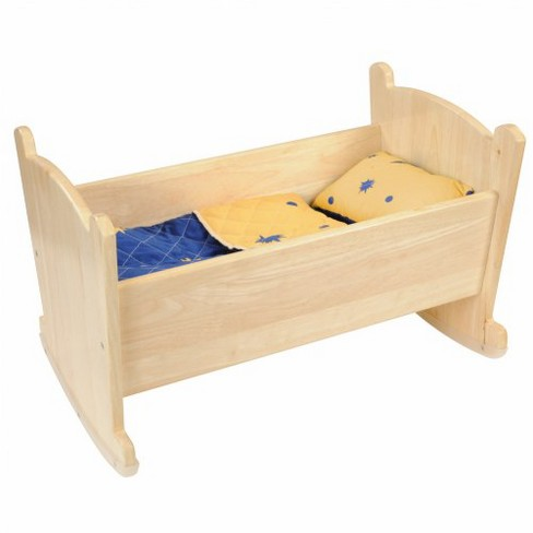 Kaplan Early Learning Wooden Doll Cradle with Bedding - image 1 of 2