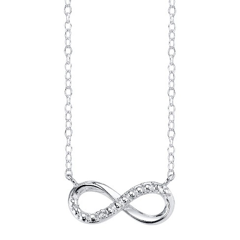Sterling Silver Infinity with Diamond Accent Pendant - Silver - image 1 of 1
