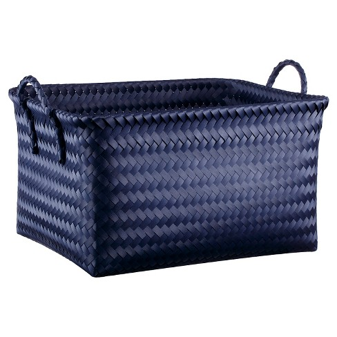 Large Rectangle Woven Bin Navy - Room Essentials™ - image 1 of 1