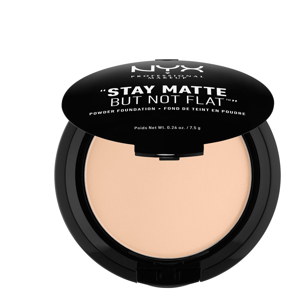 Nyx Professional Makeup Stay Matte But Not Flat Powder Foundation Light Beige - 0.26oz