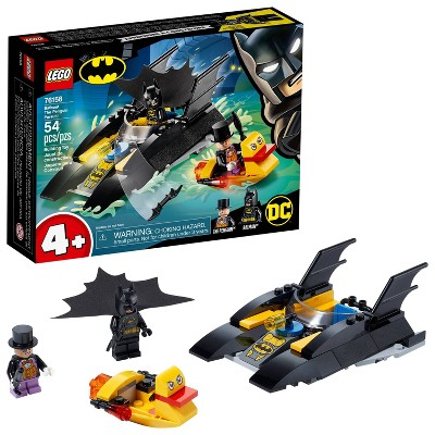 LEGO DC Batboat The Penguin Pursuit! Fun Playset with Super-Hero Minifigures 76158