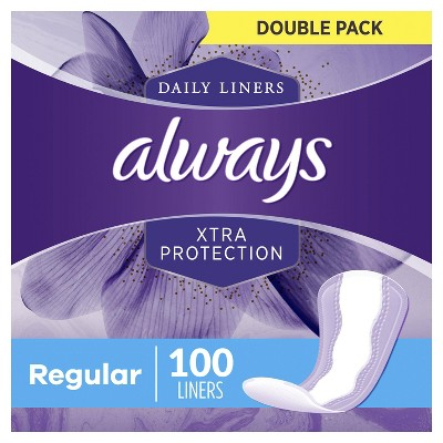 Always Xtra Protection Daily Liners Regular - Unscented - 100ct