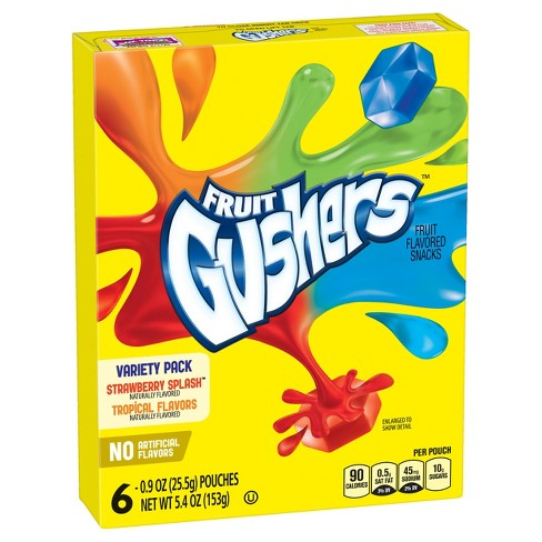 Betty Crocker Fruit Gushers Variety Pack Fruit Flavored Snacks - 6ct - image 1 of 3