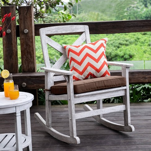 Westlake Outdoor Wood Rocking Chair, Outdoor Rocking Chair Cushions Target