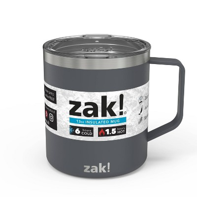 Zak! Designs 13oz Double Wall Stainless Steel Explorer Mug