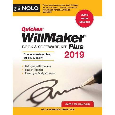 Quicken Willmaker Plus 2019 Edition - 14 Edition by Editors Of Nolo  (Paperback)