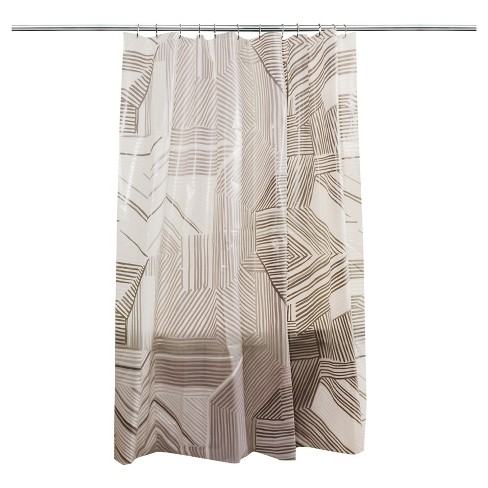 Broken Lines Shower Curtain Gray - Room Essentials™ - image 1 of 3