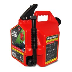 SureCan Self Venting Easy Pour Nozzle 2 Plus Gallon Flow Control Gas Can, Red