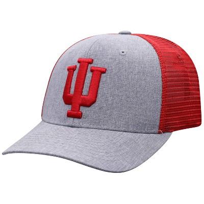 NCAA Indiana Hoosiers Men's Gray Chambray with Hard Mesh Snapback Hat