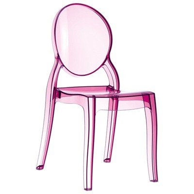 Elizabeth Polycarbonate Patio Dining Chair in Pink - Set of 2 - Compamia