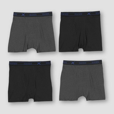 Hanes Premium Men's X-Temp Shorts Leg Boxer Briefs 4pk