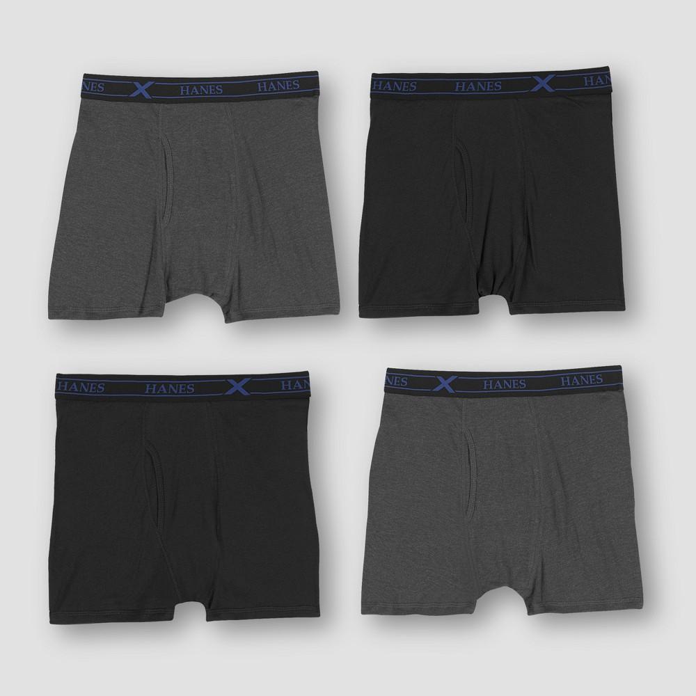 Hanes Premium Men's X-Temp Shorts Leg Boxer Briefs 4pk - Colors Vary XL, Multicolored