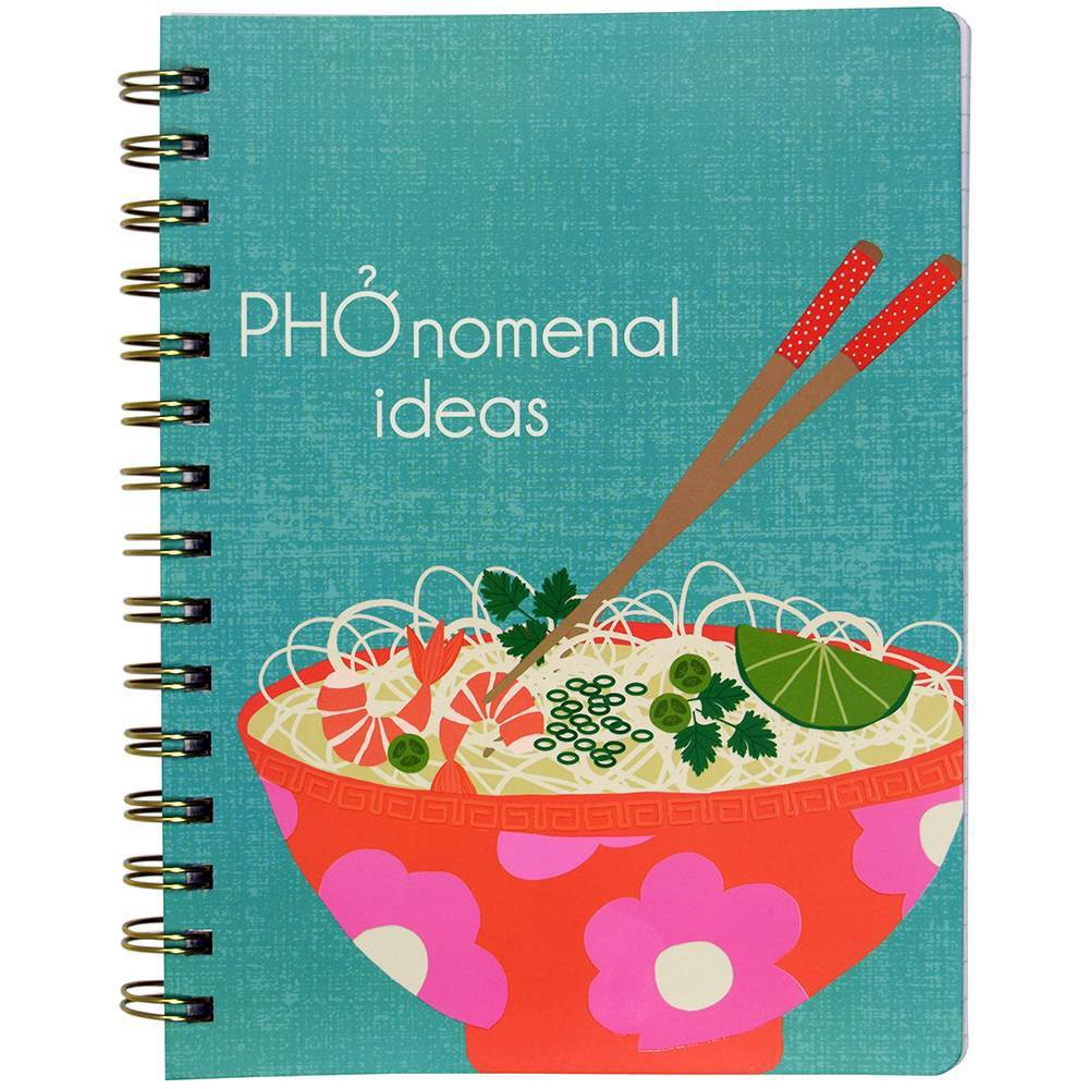 Image of Lined Journal Noodles Spiralbound UV Spot Accent Pho- Top Flight