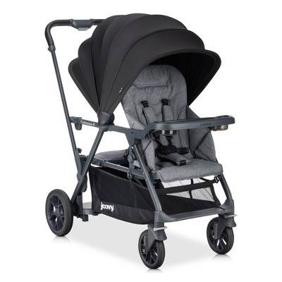 Joovy Caboose S Sit Stand Double Stroller - Gray Melange