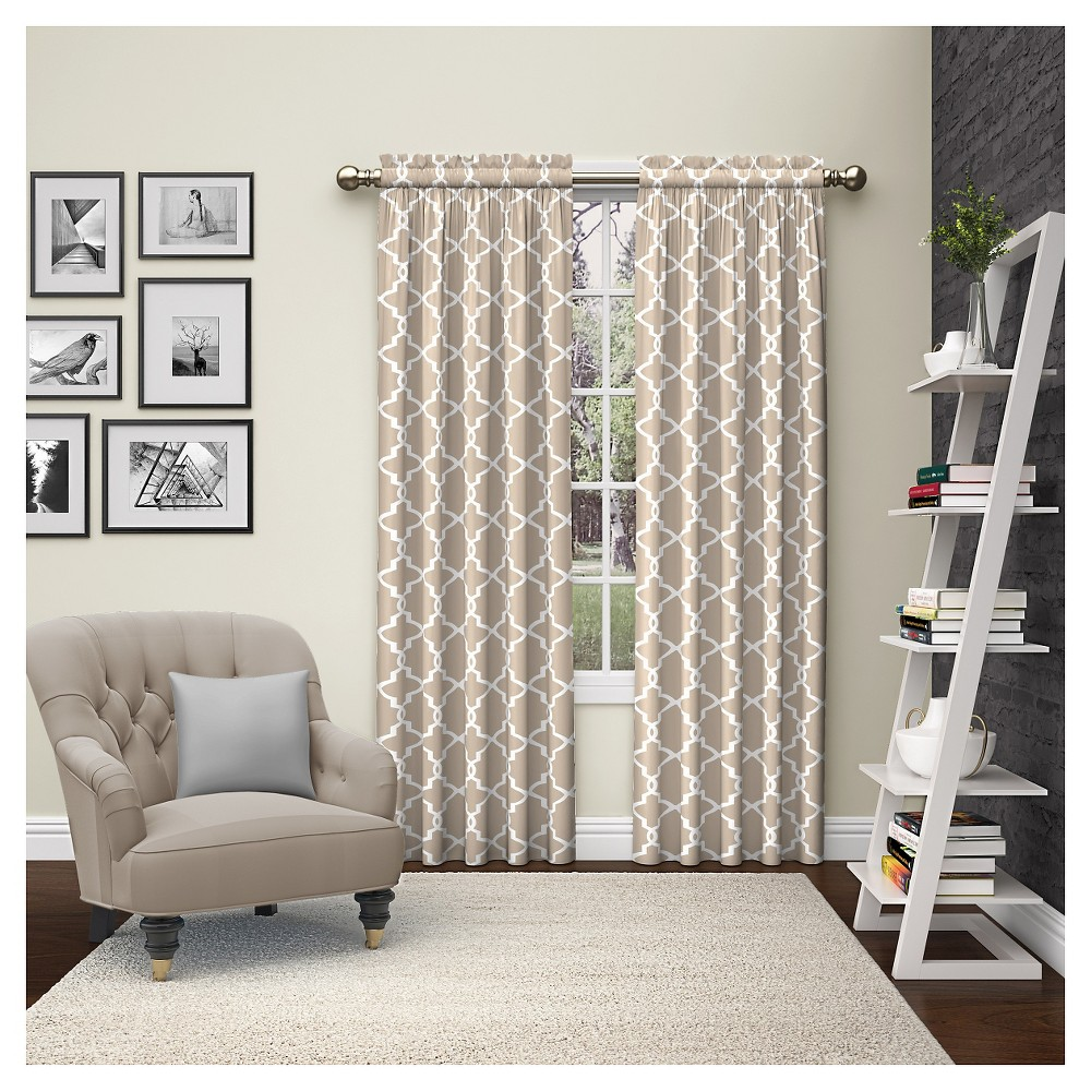 "Image of ""2 Piece Vickery Curtain Panels Tan (28""""x84"""") Pairs To Go"""