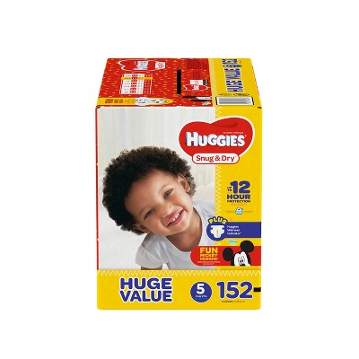 Huggies Snug And Dry Diapers Huge Pack - Size 5 (152ct )