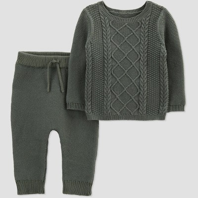 Baby Boys' 2pc Sweater Set Top and Bottom Set - Just One You® made by carter's Green 6M