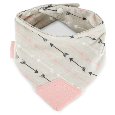 BooginHead Bandana Teether Bib - Pink/Gray Arrows