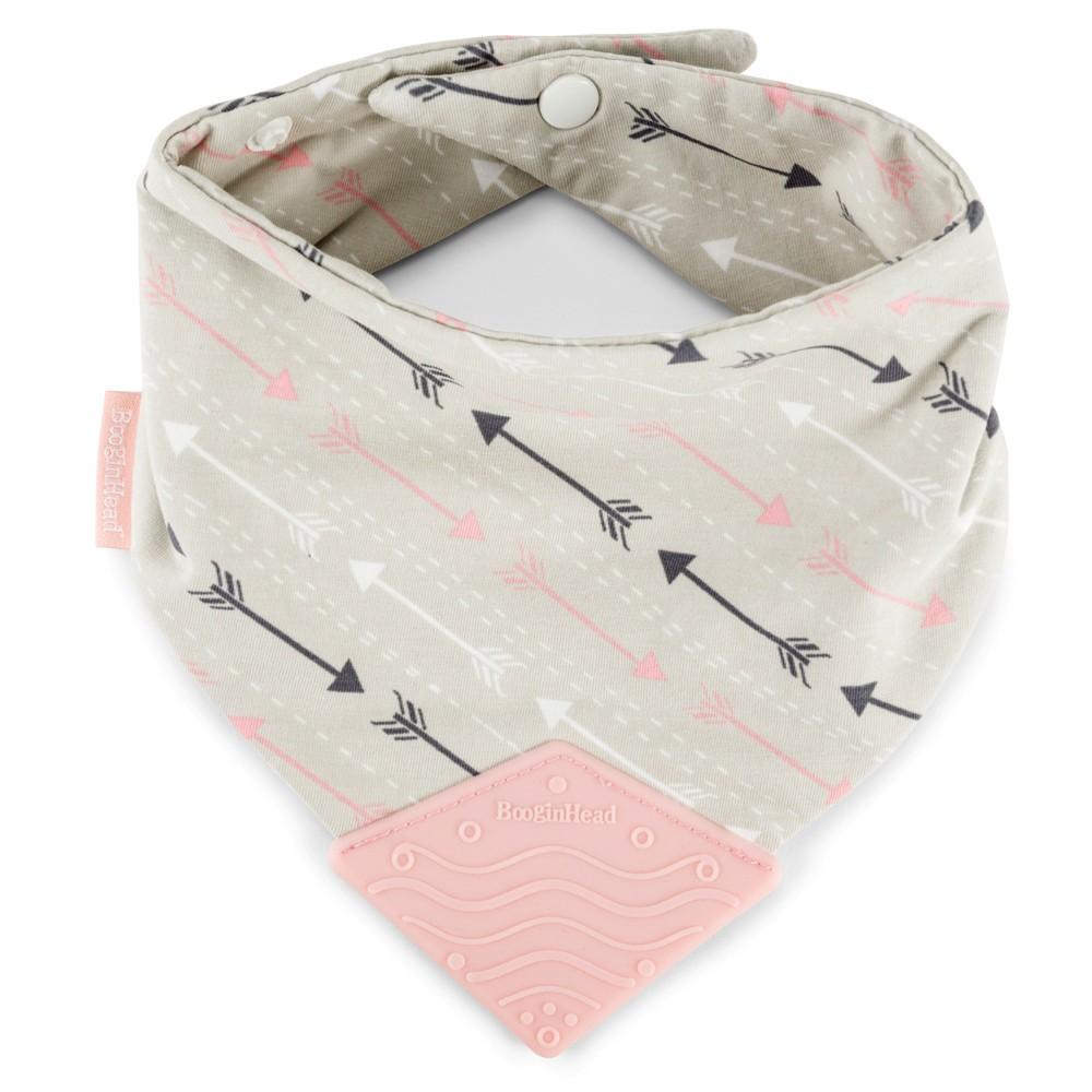 Image of BooginHead Bandana Teether Bib - Pink/Gray Arrows